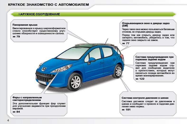 инструкция по эксплуатации 207 Peugeot - фото 4